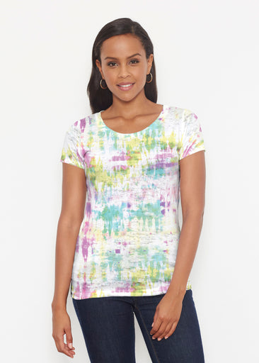 Summer Tie Dye (7878) ~ Short Sleeve Scoop Shirt