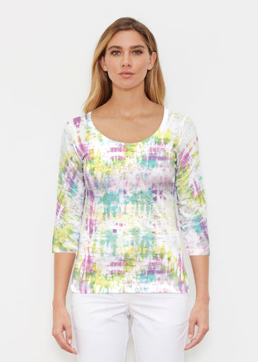 Summer Tie Dye (7878) ~ Signature 3/4 Sleeve Scoop Shirt