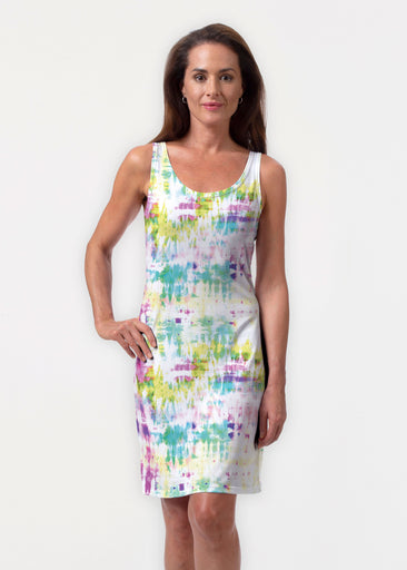 Summer Tie Dye (7878) ~ Vivid Scoop Tank Dress