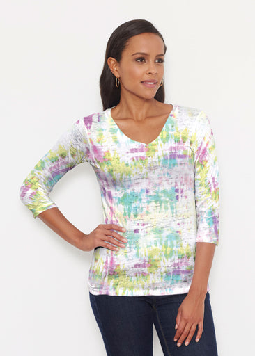 Summer Tie Dye (7878) ~ Signature 3/4 V-Neck Shirt