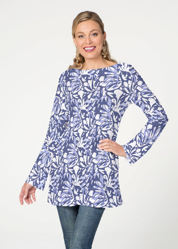 Camouflage Dots (7879) ~ Banded Boatneck Tunic