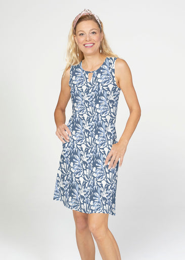 Camouflage Dots (7879) ~ French Terry Keyhole Sleeveless Dress