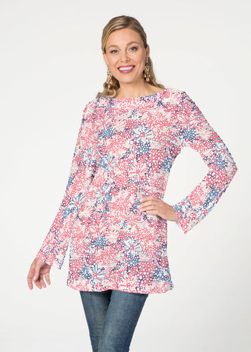 Tulips are Back (7880) ~ Banded Boatneck Tunic