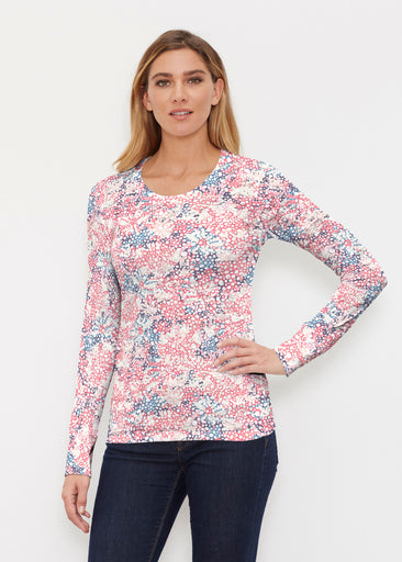 Tulips are Back (7880) ~ Thermal Long Sleeve Crew Shirt