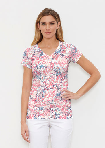 Tulips are Back (7880) ~ Signature Cap Sleeve V-Neck Shirt