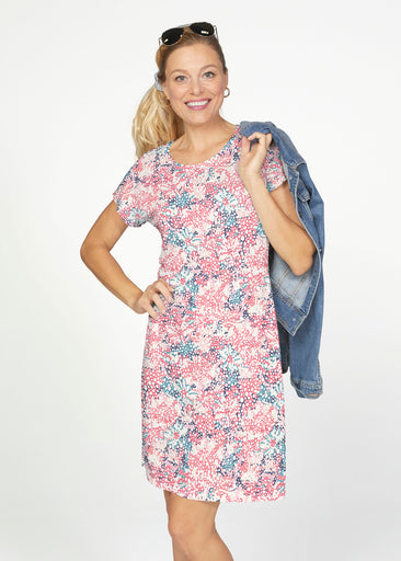 Tulips are Back (7880) ~ Smooth Terry Short Sleeve Crew Dress
