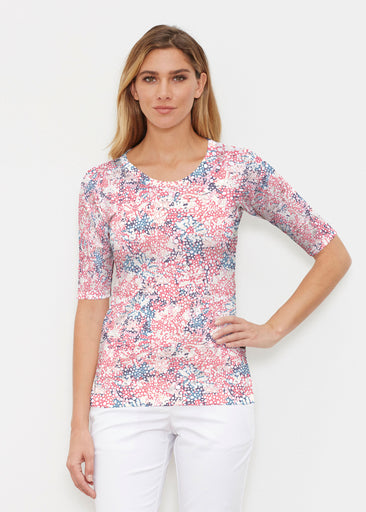 Tulips are Back (7880) ~ Elbow Sleeve Crew Shirt
