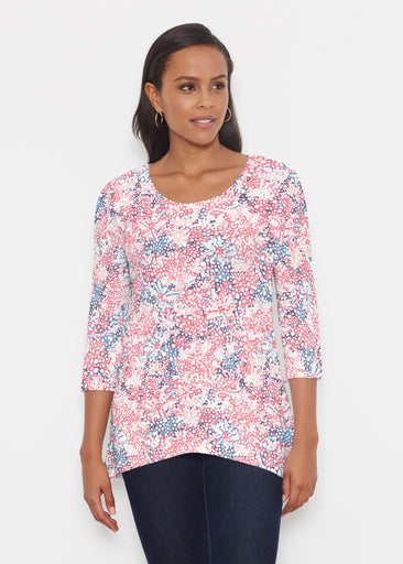 Tulips are Back (7880) ~ Katherine Hi-Lo Thermal Tunic