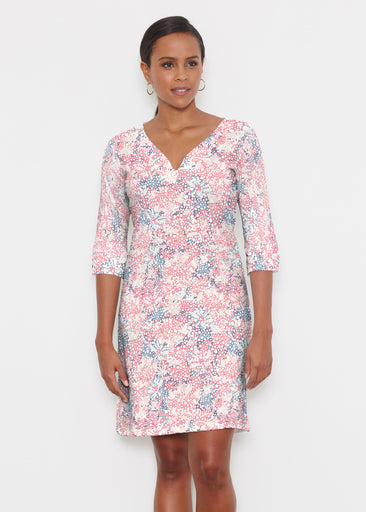 Tulips are Back (7880) ~ Classic 3/4 Sleeve Sweet Heart V-Neck Dress