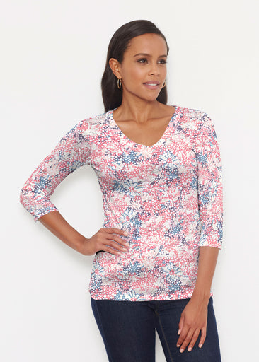 Tulips are Back (7880) ~ Signature 3/4 V-Neck Shirt
