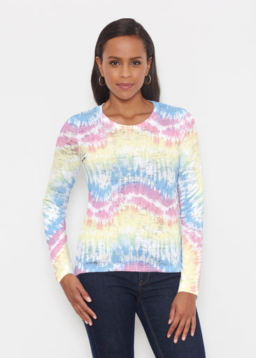 Waves Tie Dye (7896) ~ Signature Long Sleeve Crew Shirt