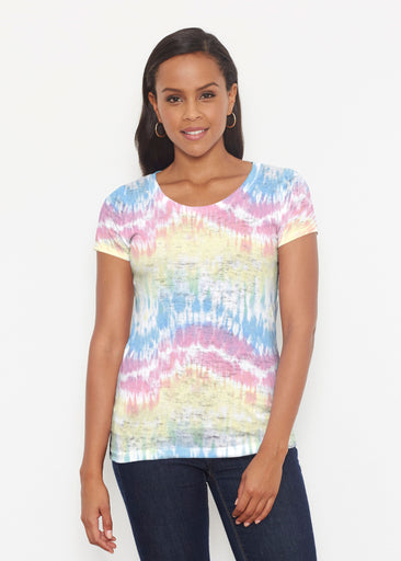 Waves Tie Dye (7896) ~ Short Sleeve Scoop Shirt