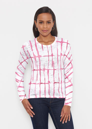 Knotted Pink (7897) ~ Signature Long Sleeve Crew Shirt