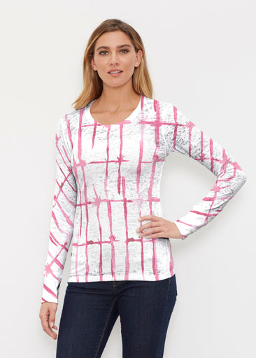 Knotted Pink (7897) ~ Thermal Long Sleeve Crew Shirt