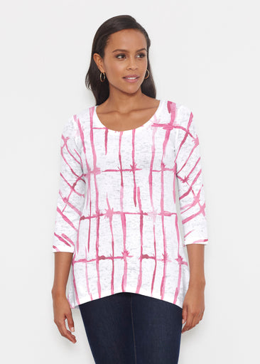 Knotted Pink (7897) ~ Katherine Hi-Lo Thermal Tunic