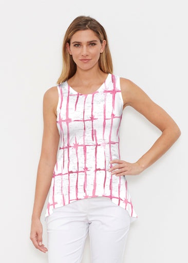 Knotted Pink (7897) ~ High-low Tank