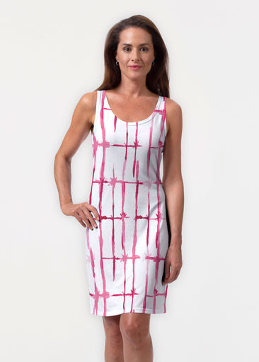 Knotted Pink (7897) ~ Vivid Scoop Tank Dress