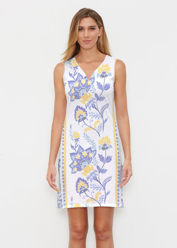 Bohemian Chintz Yellow (7898) ~ Classic Sleeveless Dress