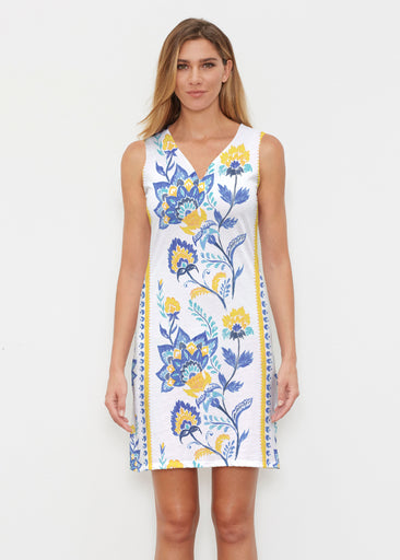 Bohemian Chintz Yellow (7898) ~ Vivid Sleeveless Dress