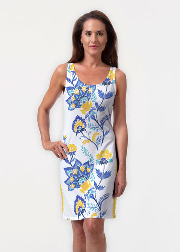 Bohemian Chintz Yellow (7898) ~ Vivid Scoop Tank Dress