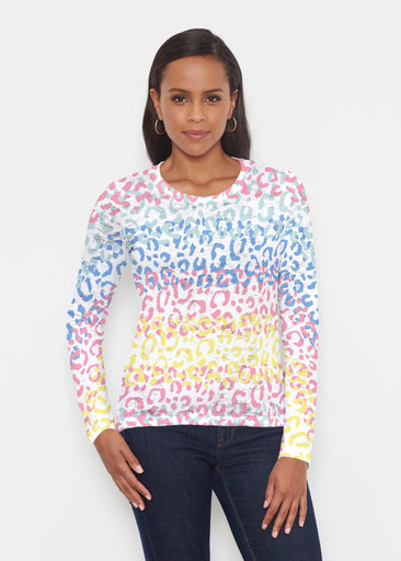 Leopard Ombre Rainbow (7899) ~ Signature Long Sleeve Crew Shirt