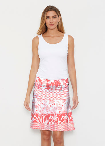 Patchwork Coral (7900) ~ Silky Brenda Skirt 21 inch