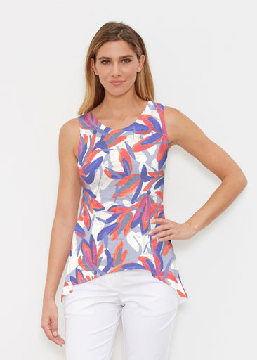 Colorful Palm Blue (7901) ~ High-low Tank