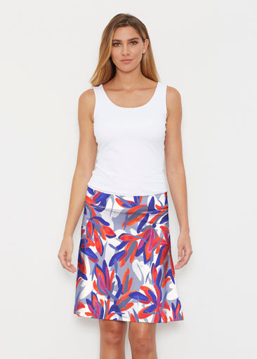 Colorful Palm Blue (7901) ~ Silky Brenda Skirt 21 inch