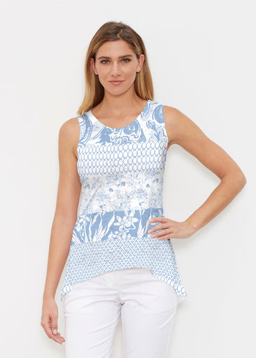 Patchwork Blue (7902) ~ High-low Tank