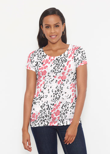 Greek Cat Pink (7903) ~ Short Sleeve Scoop Shirt
