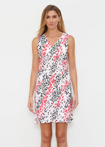 Greek Cat Pink (7903) ~ Vivid Sleeveless Dress