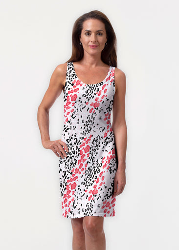 Greek Cat Pink (7903) ~ Vivid Scoop Tank Dress
