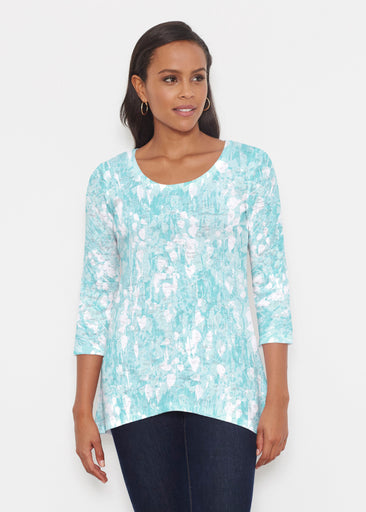 Shadow Aqua (7914) ~ Katherine Hi-Lo Thermal Tunic