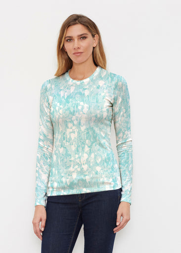 Shadow Aqua (7914) ~ Butterknit Long Sleeve Crew Top