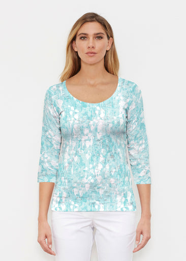 Shadow Aqua (7914) ~ Signature 3/4 Sleeve Scoop Shirt
