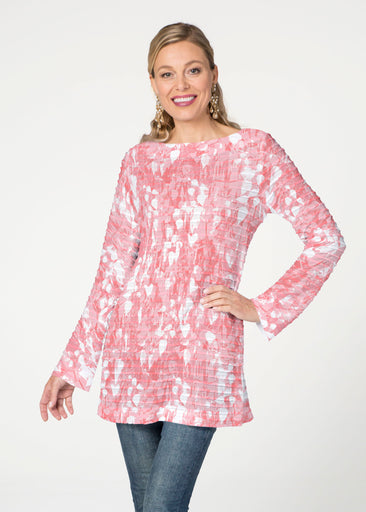 Shadow Coral (7915) ~ Banded Boatneck Tunic