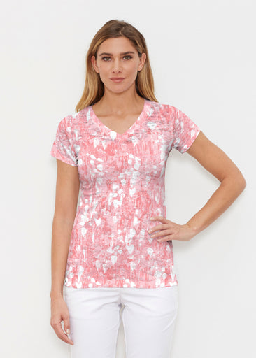 Shadow Coral (7915) ~ Signature Cap Sleeve V-Neck Shirt