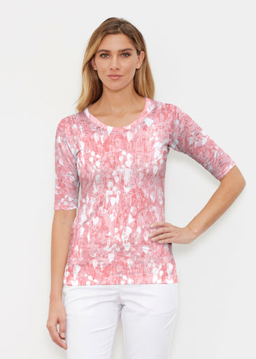 Shadow Coral (7915) ~ Elbow Sleeve Crew Shirt