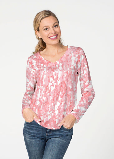 Shadow Coral (7915) ~ Smooth Terry V-neck Top