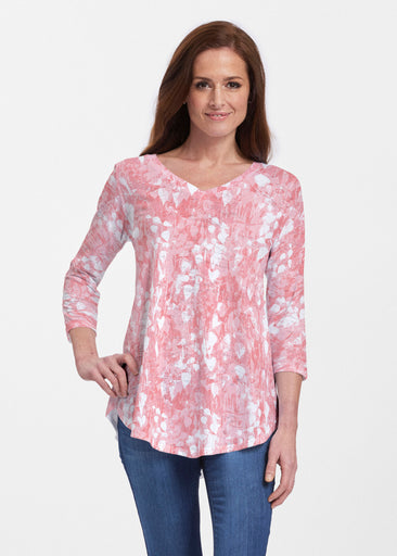 Shadow Coral (7915) ~ V-neck Flowy Tunic