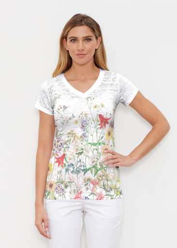 Prairie (7929) ~ Signature Cap Sleeve V-Neck Shirt