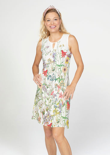 Prairie (7929) ~ French Terry Keyhole Sleeveless Dress