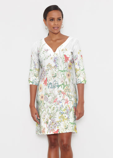 Prairie (7929) ~ Classic 3/4 Sleeve Sweet Heart V-Neck Dress