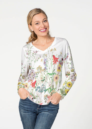 Prairie (7929) ~ Smooth Terry V-neck Top