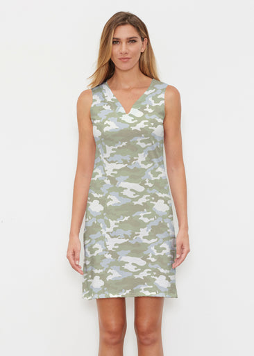 Camo-Floral Green (9239) ~ Classic Sleeveless Dress