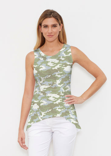 Camo-Floral Green (9239) ~ Signature High-low Tank