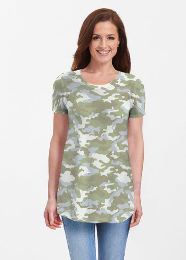 Camo Green (9244) ~ Butterknit Short Sleeve Tunic