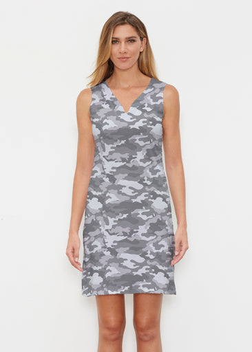 Camo Grey (9245) ~ Classic Sleeveless Dress