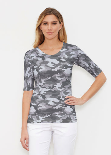 Camo Grey (9245) ~ Signature Elbow Sleeve Crew Shirt