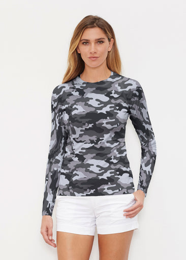 Camo Grey (9245) ~ Long Sleeve Rash Guard